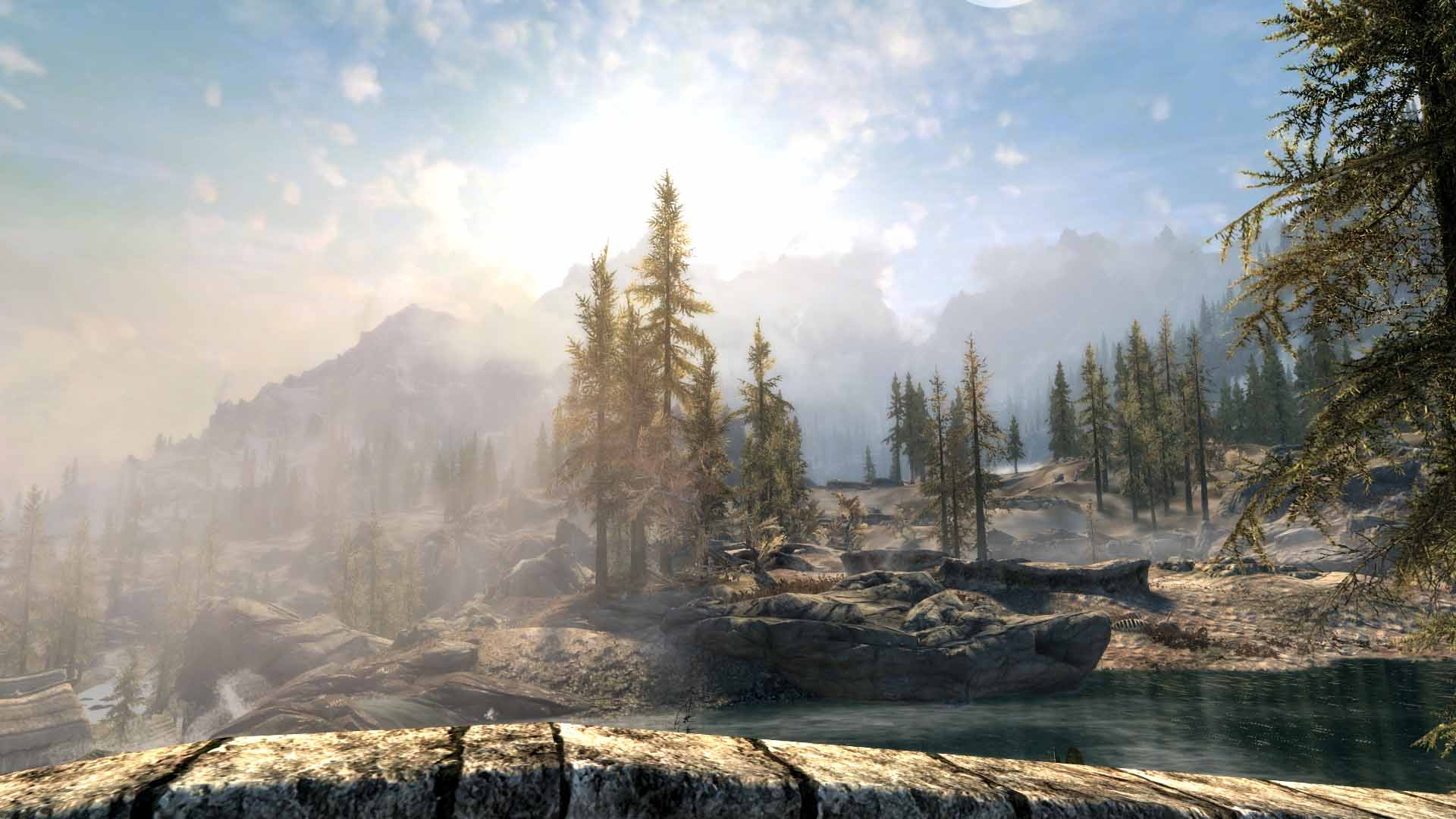 Skyrim SE Obsidian Weathers + Realistic Water Two No ENB