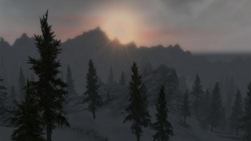 Sunset at Helgen